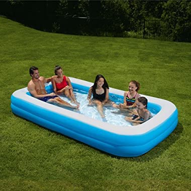 My Sunshine 120 l X 72 w X 18 h Deluxe Rectangular 2-ring Family Inflatable Swimming Pool