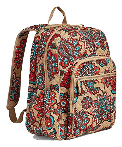 Vera Bradley Iconic Campus Backpack, Signature Cotton (One Size, Desert Floral)