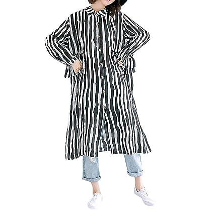 43de736b38e Amazon.com   Franterd Women Button Down Blouse Autumn Cotton Linen ...