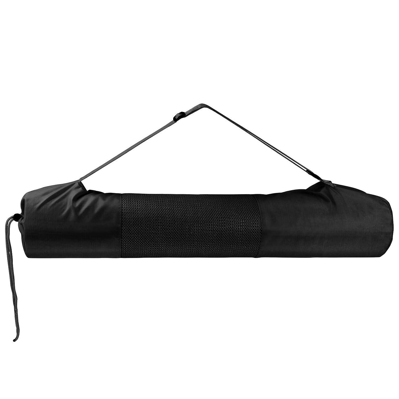BB SPORT Tragetasche für Yogamatten bis 61 cm breit und 11,5 cm Durchmesser zusammengerollt Yoga Gymnastik Turnen Pilates Fitness Farbe:Combat Black