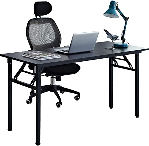 sogesfurniture Computer Desk Office Desk 55 inches Folding Table Laptop Desk Computer Table Workstation