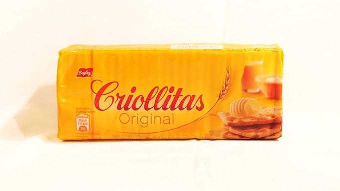 Galletitas Criollitas de Bagley. Galletas Crakers saladas. 100% Argentinas.