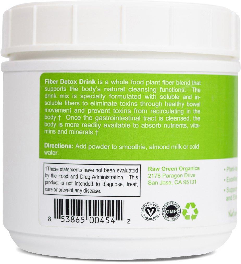 Amazoncom Raw Green Organics Fiber Detox Drink Mix Natural