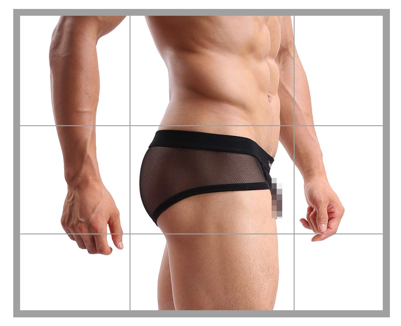 8a937d57972a Men's Underwear Sexy Mesh Breathable Boxer Briefs Low Rise Cool Boxers Pack  Set
