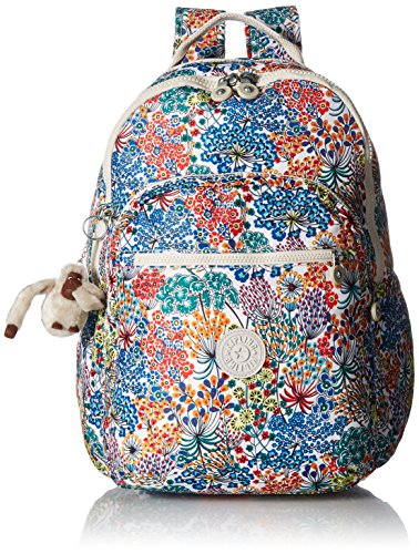 Seoul L Printed Backpack Backpack, Little Flower Blue, One Size by Kipling