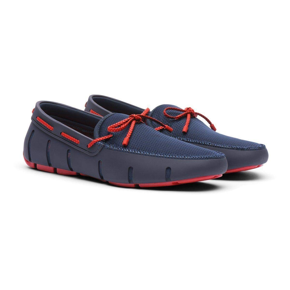 Navy Red Alert Swims Braided Lace Loafer