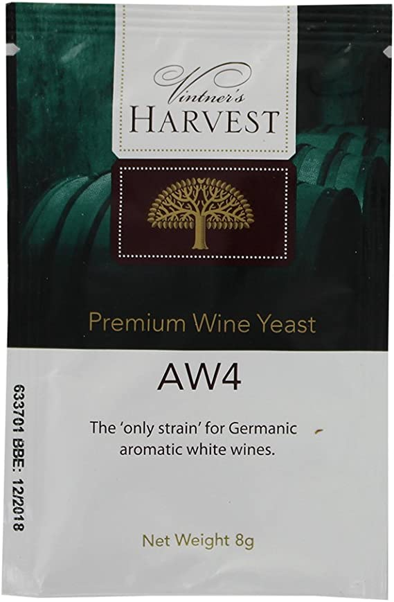 Vintner's Harvest Wine Yeast - AW4 8g treats 23L Germanic Aromatic White Wines