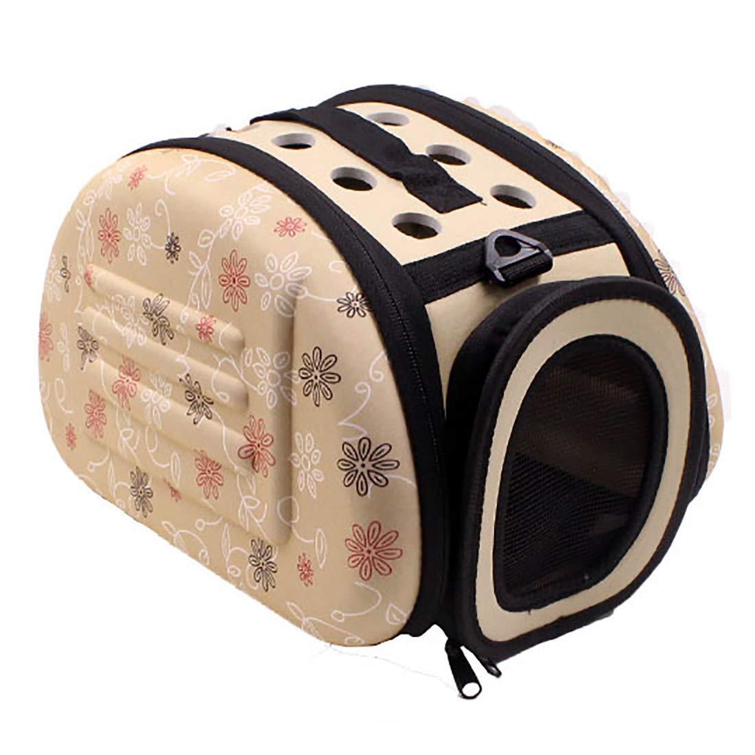 Beige M Beige M Cvthfyky Pet Bags Portable Cat Dog Sleeping Foils Collapsible Pet Travel Bags. (color   Beige, Size   M)