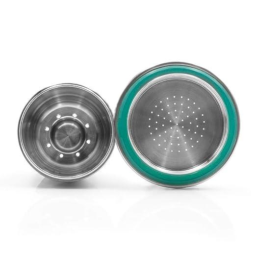 Houkiper - Taza de filtro para cafetera Nespresso de acero ...