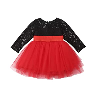 0e73b6f7820e6 Amazon.com: Toddler Kids Baby Girls Floral Print Lace Long Sleeve ...