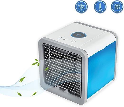 Ecent 3 en 1 Mini Air Cooler Ventilador Más Frío, Humidificador y ...