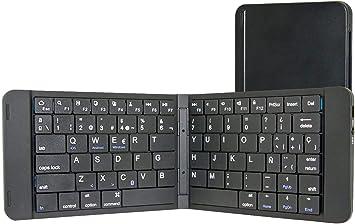 Rii K09 Teclado plegable Bluetooth para iOS, Android, Windows, PC, Tablets y Smartphones. Color Negro