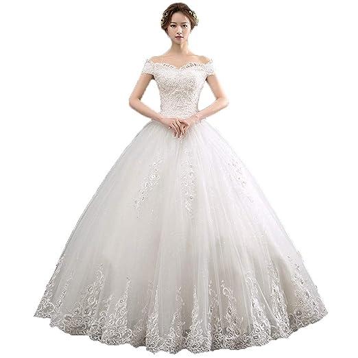 Vestidos de novia Mujeres fuera del hombro apliques florales ...