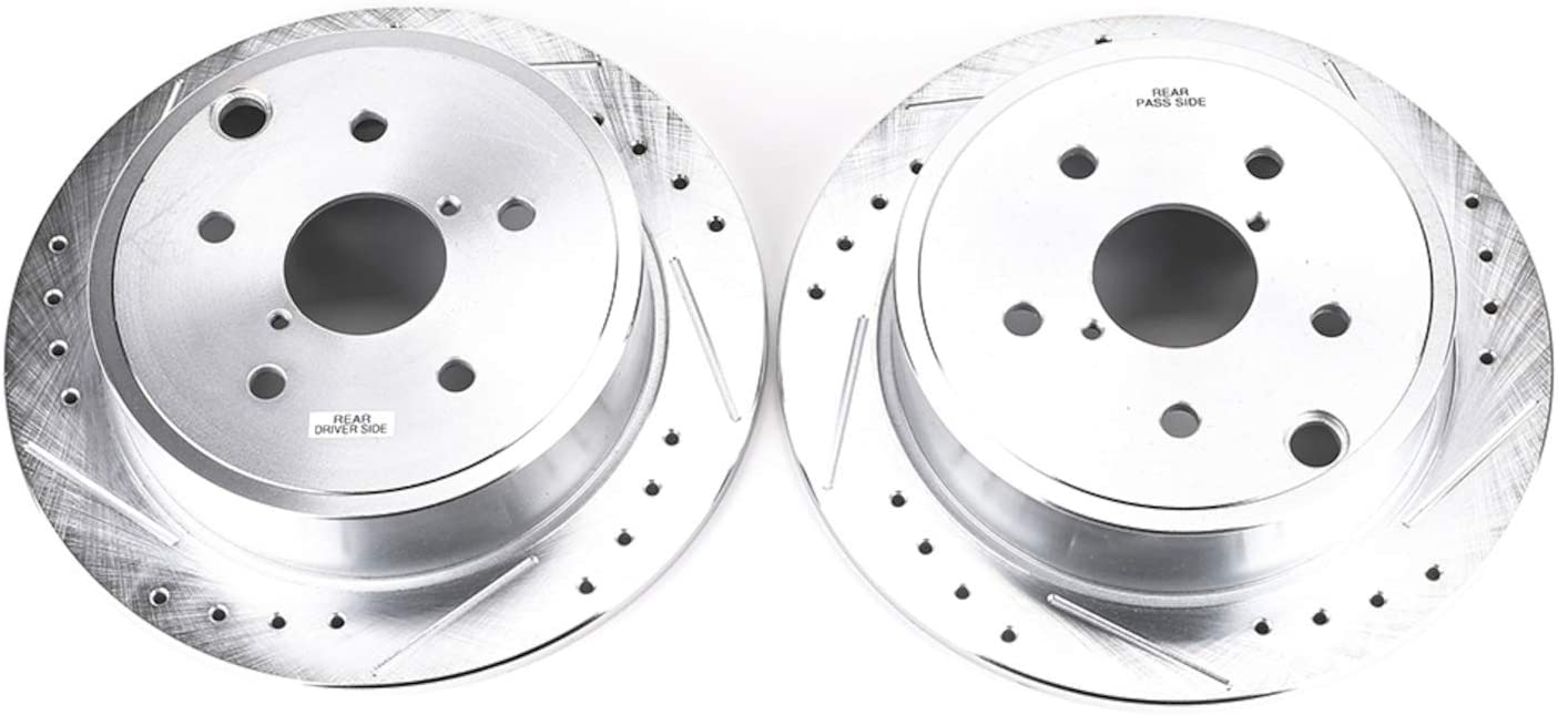 Power Stop JBR1701XPR Rear Evolution Performance Drilled Slotted//& Plated Brake Rotor Pair