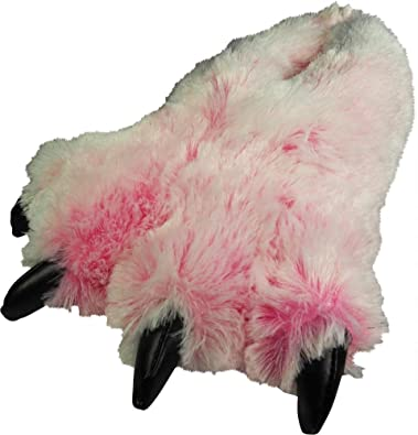 b3a3a4d8b356 NORTY - Girls Big Foot Fuzzy Bear Claw Slippers
