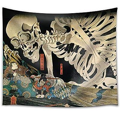 Utagawa Kuniyoshi - Takiyasha The Witch and The Skeleton Spectre - Ukiyo-e - Fabric Tapestry, Home Decor - 51x60 inches