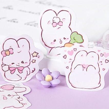 Amazon Com 45pcs Cute Rabbit Daily Kawaii Decoration Stickers Planner Scrapbooking Stationery Korean Diary Stickers