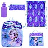 insulated cinch - Disney Frozen Elsa 5-pc Backpack, Lunch Bag, Water Bottle, Utility Case & Cinch Sack