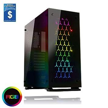 Game Max - Caja para PC Onyx RGB, semitorre ATX con 3 Ventiladores RGB y