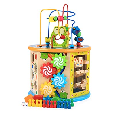 CCM Wooden Educational Toys, Children's Education, Multi-Functional Cognitive Toys, Intelligent Big Beads, Multiple Ways of Playing px: Home & Kitchen
