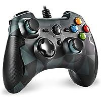 EasySMX Mando para PC, [Regalos] PS3 Gamepad Alámbrico, Joystick con los Botones de Doble-Vibración Turbo y Trigger…