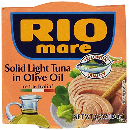 Rio Mare Tuna Fish Imported From Italy. Italy's Number 1 Tuna - The Best Imported Italian Tuna - Pack of (1 Light Italian)