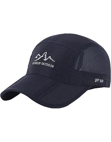 UPF 50+ Quick Dry Sports Peaked Cap Mesh Baseball Golf Cap Outdoor Fishing  Sun Hat f863c72cca