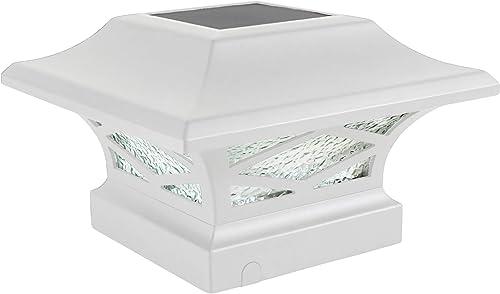 Classy Caps SLK807W Solar Post Light, White