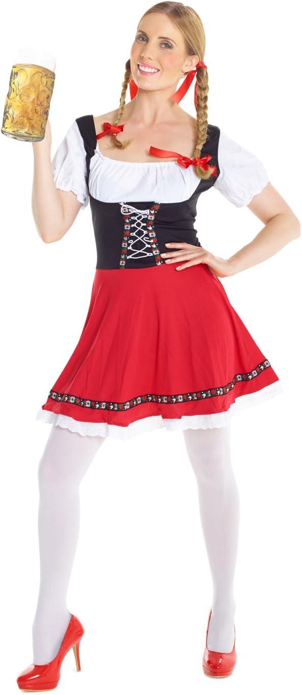 Mujeres Disfraz alemán Lederhosen Oktoberfest Dirndl Vestido ...