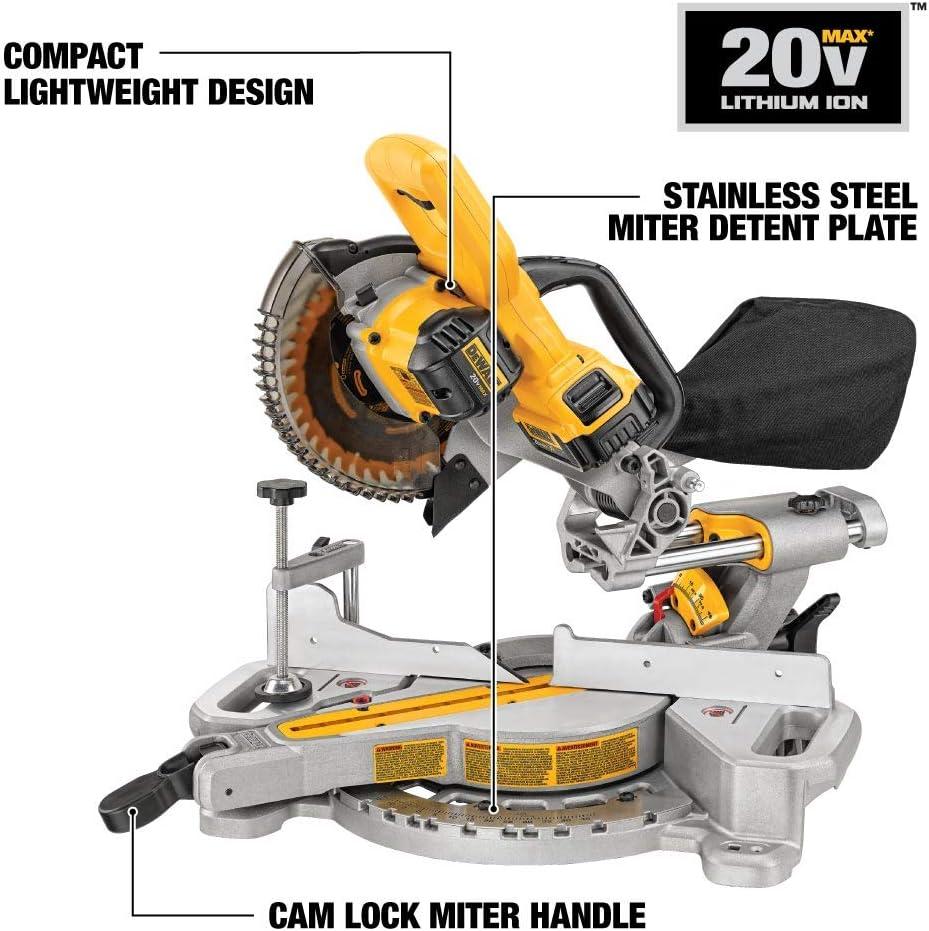 DEWALT 20V MAX 7-1 4-Inch Miter Saw, Cordless DCS361M1