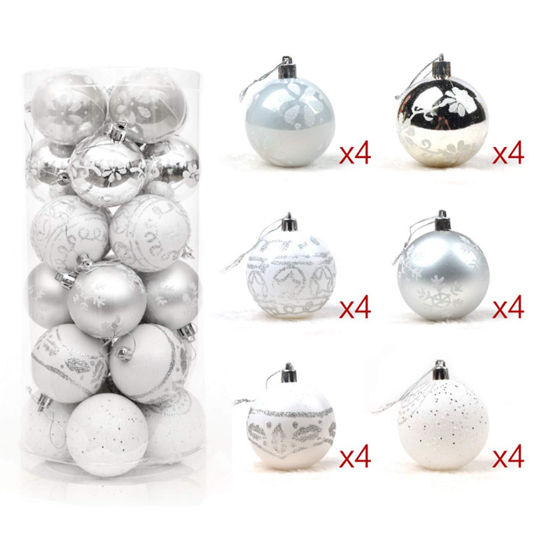 YASSON Boule d/'Arbre de No/ël Ornement D/écoration de Sapin de No/ël Suspension Maison Paillette Brillant