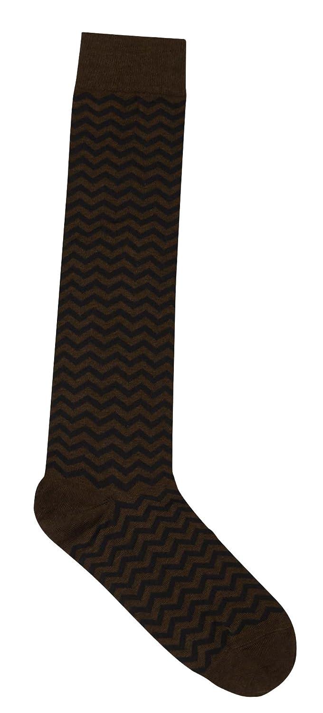 Soxiety Mens Zigzag Cotton-Blend Knee Socks