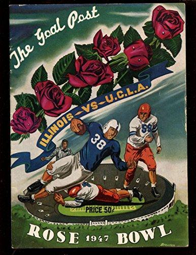 - 1947 NCAA Football Rose Bowl Program Illinois vs UCLA Ex