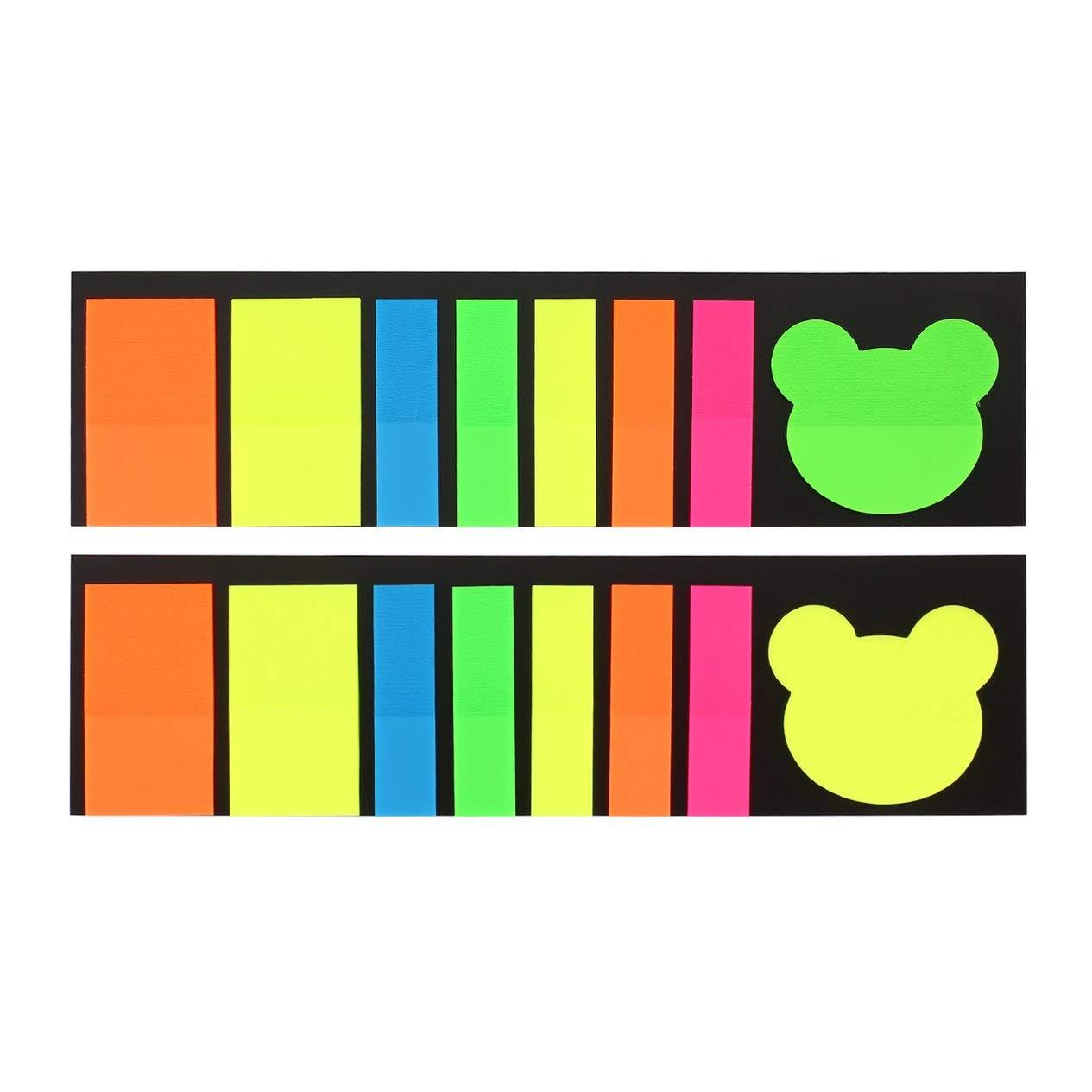EdBerk74 Notas adhesivas de colores Mini marcadores de p/ágina p/áginas Las diferentes formas indican las etiquetas Memo Stickers con una tarjeta inferior