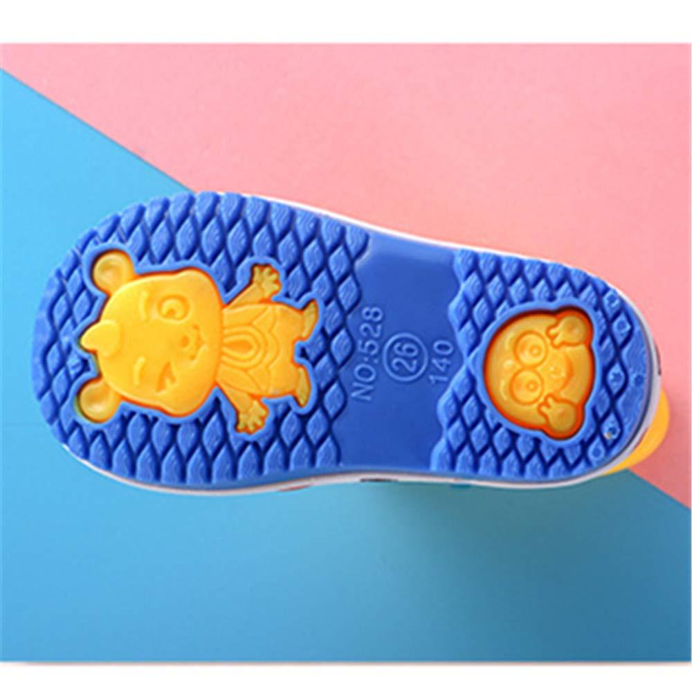 Super color Boys Girls Rain Shoes Soft Durable PVC Rain Boot Waterproof Non-Slip Water Shoes for Kids Toddler