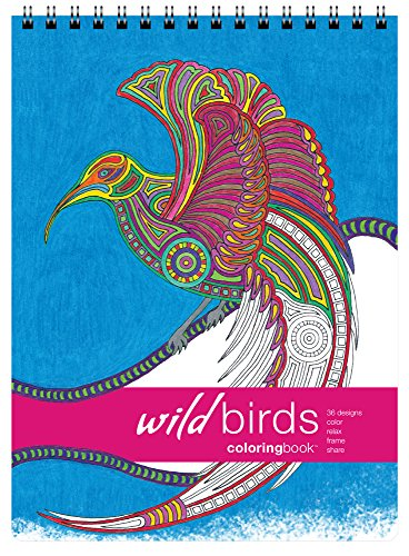 Action Publishing Coloring Book: Wild Birds · Tribal Inspired Designs of Eagles, Owls and More for Stress Relief, Relaxation and Creativity · Large (8.6 x 11.75 inches) ()