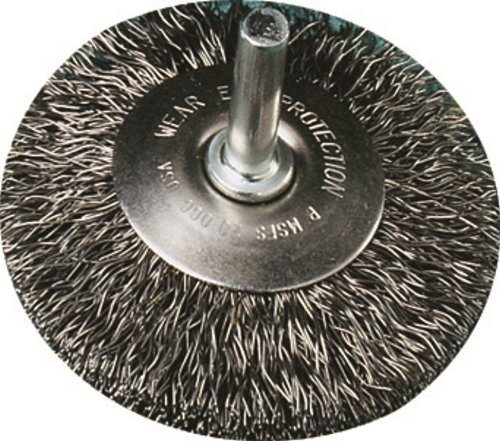 United Abrasives-SAIT 06711 3-Inch by .014 Crimp Wire End Stainless Steel Brush, 1-Pack