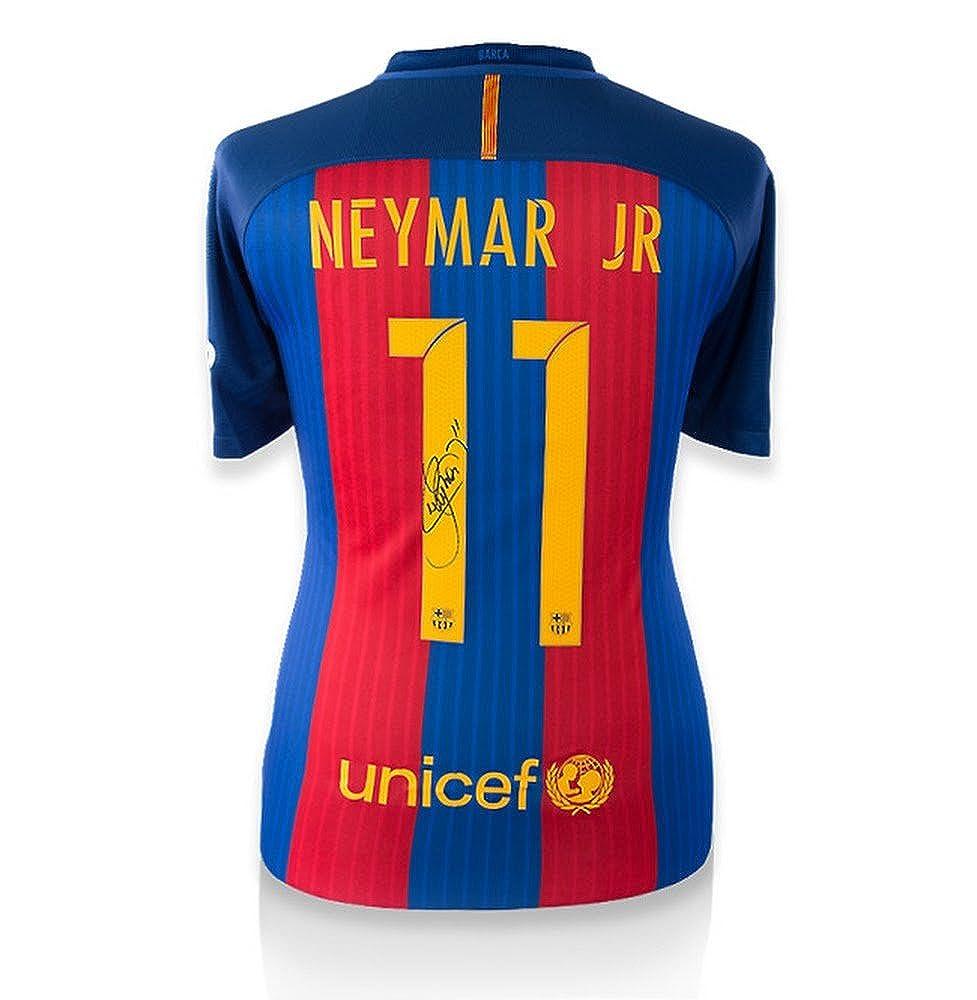 Neymar Jr Signiertes Barcelona Home Trikot 2016 2017 Offizielle Beflockung