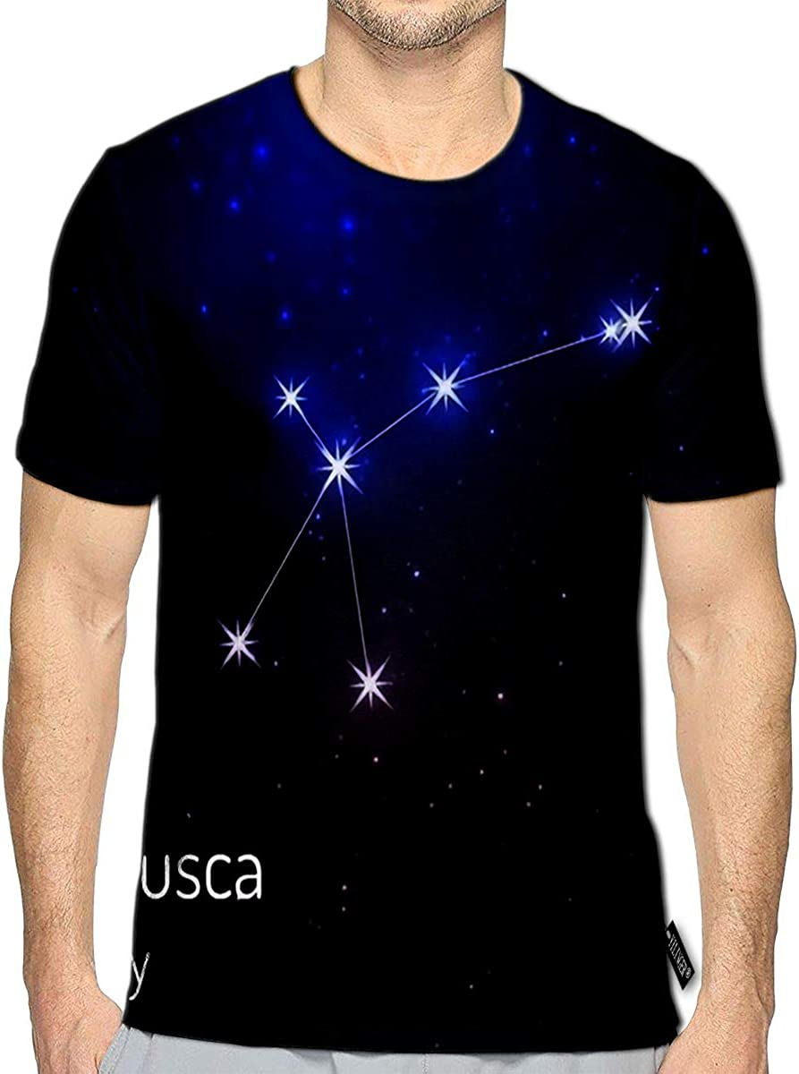 3D Printed T Shirts Musca Fly Constellation in The Night Starry Sky Casual Mens Hipster Top Tees