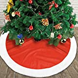 GULTMEE Christmas Decor Tree Skirt Santa Xmas Plush Skirts Decorations Holiday Ornaments, Pattern with Abstract Chaotic Simple Motifs Hipster Repeating Ornament Figures