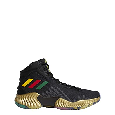 45a1d2f6953 adidas Pro Bounce 2018 Embiid Shoe - Men s Basketball 9.5 Core Black Gold  Metallic