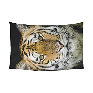 Unique Debora Custom Wall Tapestry Tiger 60x51 Inch Cotton Linen Tapestry Wall Hanging Art 60WD91