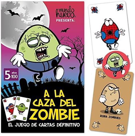 mundohuevo Juego de Cartas A la Caza del Zombie: Amazon.es: Hogar