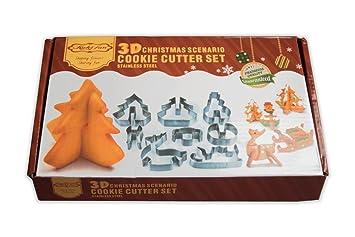 liquidpan Navidad Cookie Cutter Set – 8 piezas Cortador de galletas de moldes para galletas |