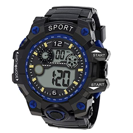 Amazon.com: Digital Watches for Men DYTA LED Sport Wrist Watches 5ATM Water Resistant Outdoor Watch on Sale Clearance Military Quartz Watchs with Rubber ...