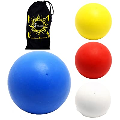 Play Bounce Ball + Travel Bag! Superb 90% Rebound Bouncing Juggling Balls.Price per Ball. (Blue, 70mm): Toys & Games