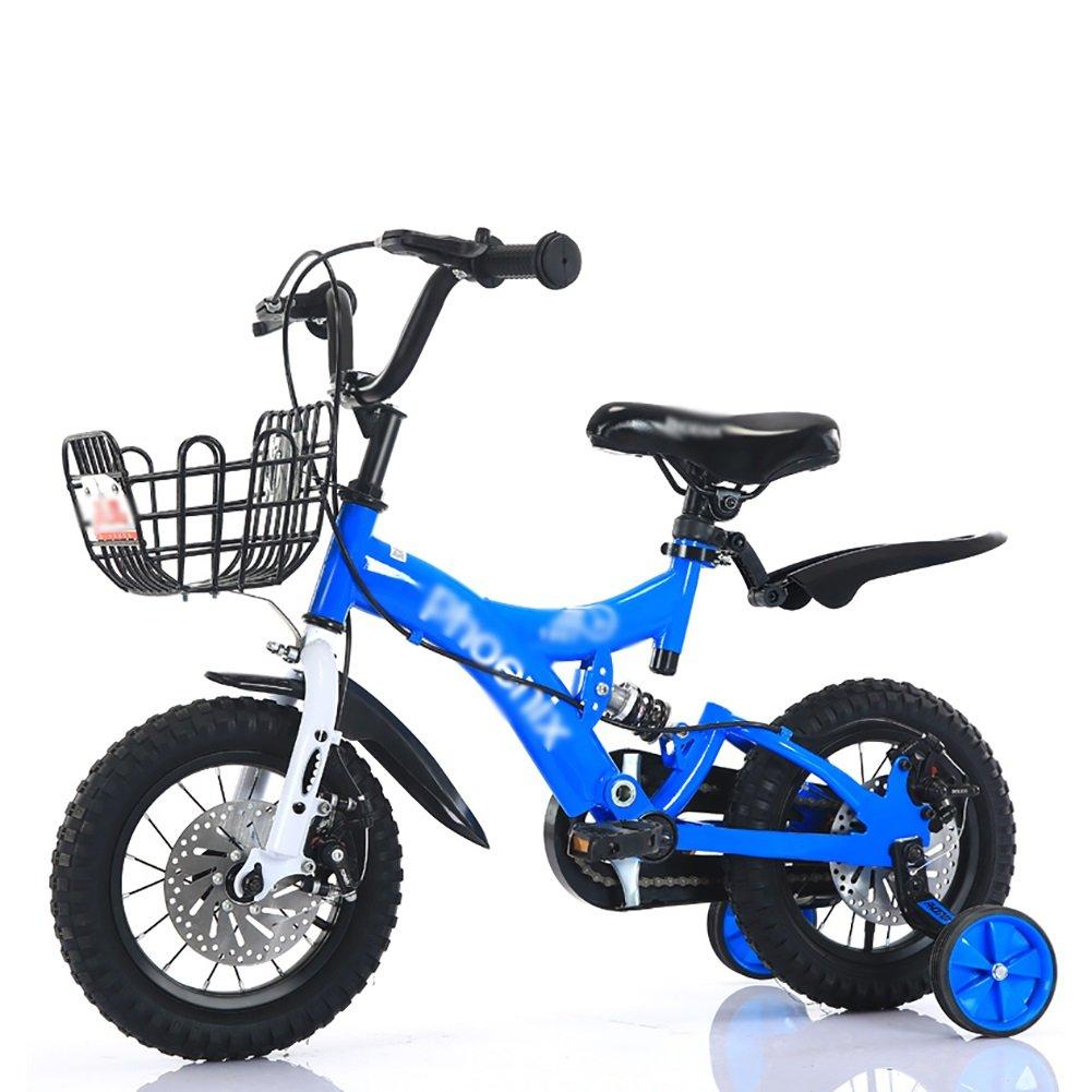子供の自転車2歳から10歳の赤ちゃんの子供のペダル自転車の少年の赤ちゃんのキャリッジバイク赤黄色の青 B07DV6TY2J 12 inch|青 青 12 inch