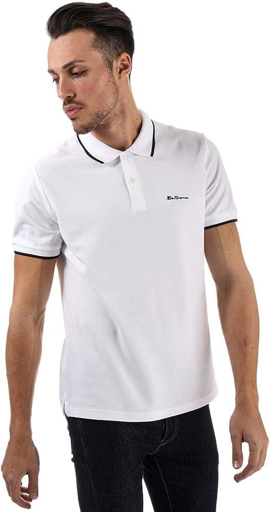 Ben Sherman - Polo - para Hombre Blanco Blanco S: Amazon.es: Ropa ...