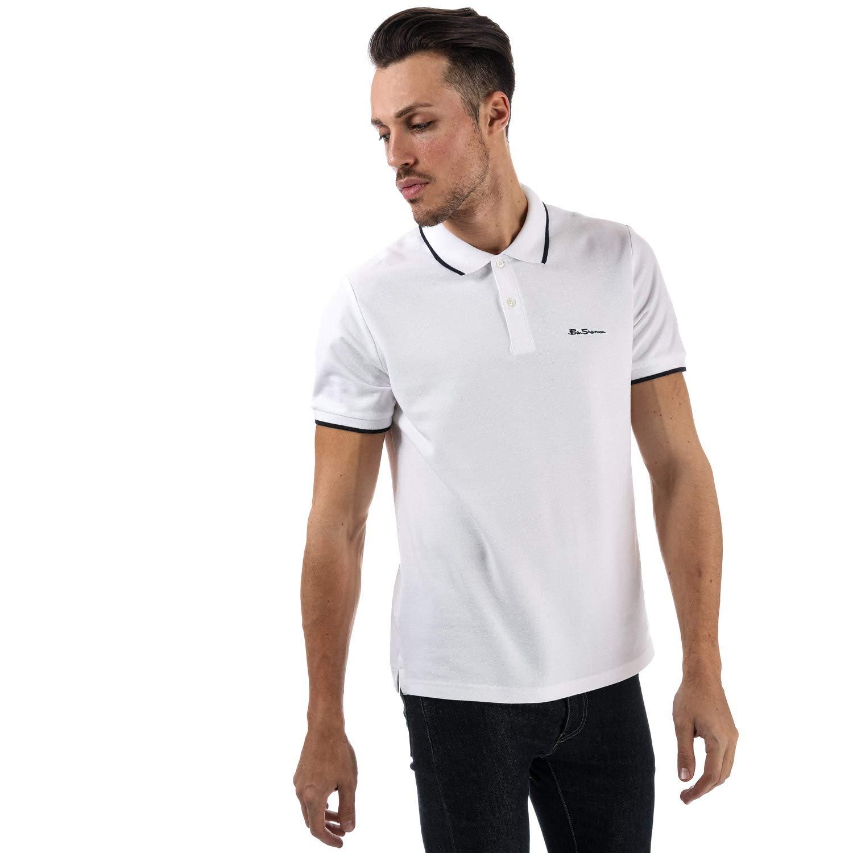 Ben Sherman Mens Tipped Pique Polo Shirt