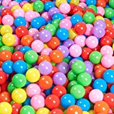 NST Gifts 50-Pit-Ball Phthalate-Free Magic Funball BPA-Free Crushproof Kids Play Ocean Balls 5-Color Plastic Ball with Mesh Bag